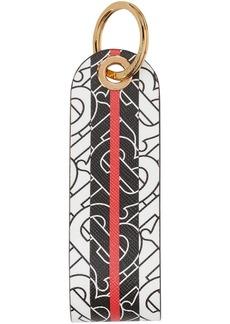 Burberry Monogram Stripe E-canvas Key Ring
