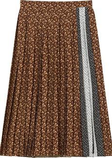 Burberry monogram stripe pleated skirt