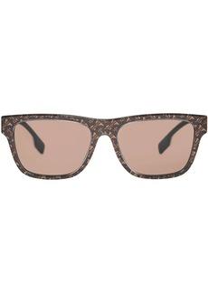 Burberry Monogram Stripe Square Frame Sunglasses