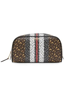 Burberry monogram stripe travel pouch
