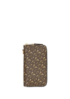 Burberry monogram ziparound phone wallet
