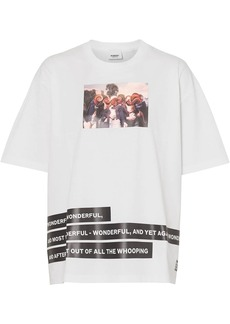 Burberry Montage Print Cotton T-shirt