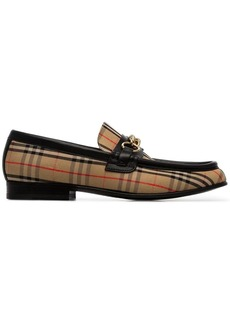 Burberry Moorley chain detail fabric loafers