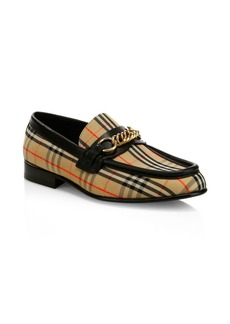 Burberry Moorley Plaid Loafers