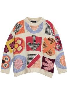 Burberry intarsia-knit jumper