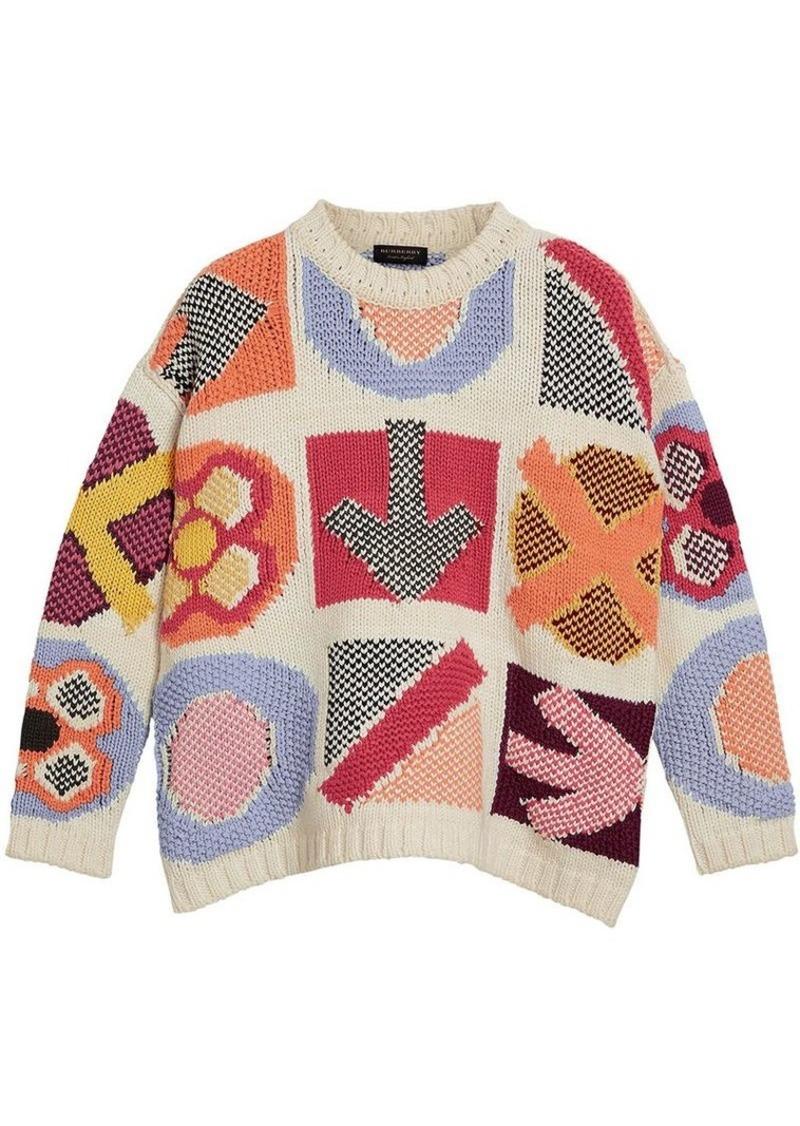7656528effa9 Burberry intarsia-knit jumper