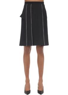 Burberry Wool Blend Pencil Skirt