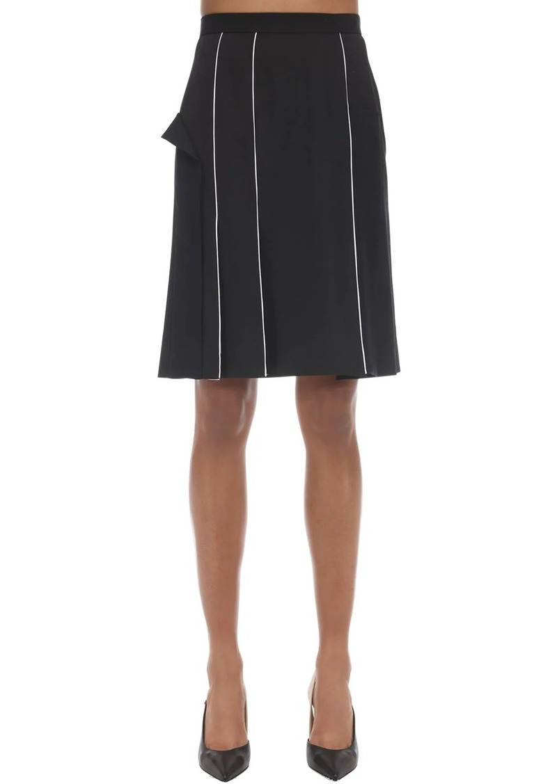 Burberry Wool Blend Pencil Skirt