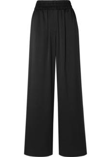 Burberry Mulberry Silk-satin Wide-leg Pants