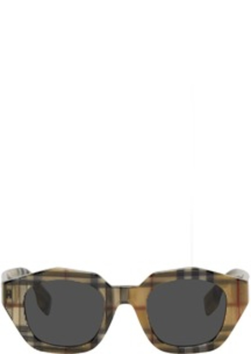 Burberry Multicolor Vintage Check Geometric Frame Sunglasses