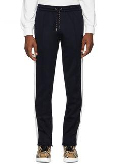 Burberry Navy & White Kaleford Lounge Pants