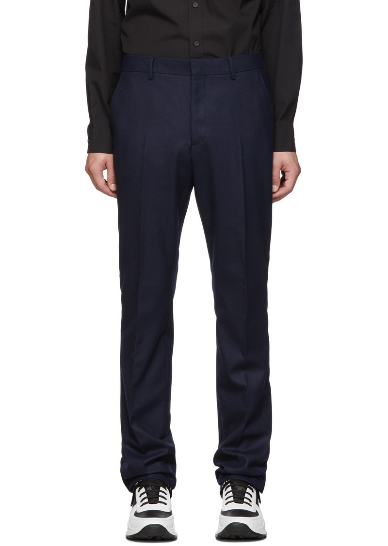 Burberry Navy Classic Trousers