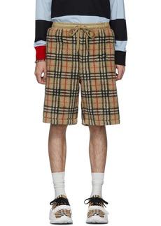 Burberry Beige Faux-Shearling Keaton Shorts