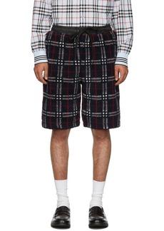 Burberry Navy Faux-Shearling Keaton Shorts