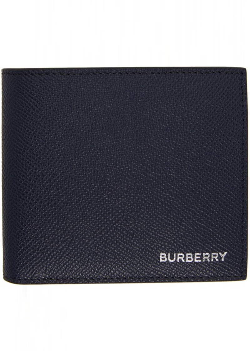 Burberry Navy International Bifold Wallet