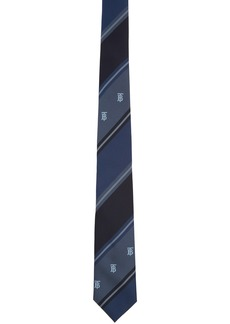 Burberry Navy Striped TB Manston Tie