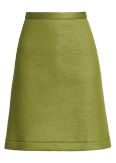 Burberry Neoprene A-Line Skirt
