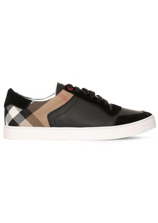 Burberry New Reeth Check Canvas & Leather Sneaker