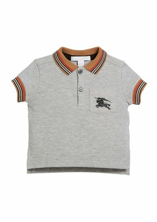 Burberry Noel Striped-Trim Logo Pocket Polo