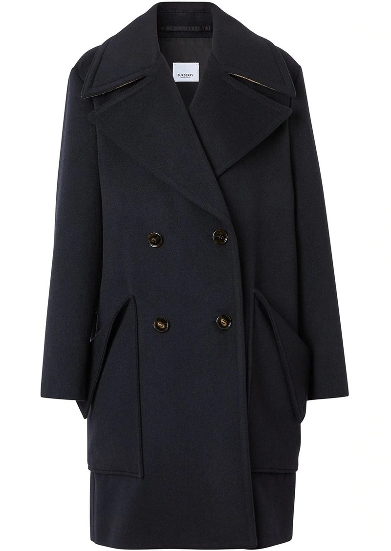 notched-lapels doublebreasted coat