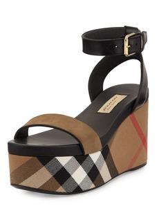 Burberry Nuneaton Check Wedge Sandal