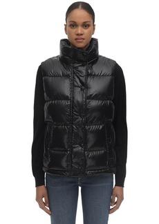 Burberry Nylon Down Vest W/patches