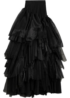 Burberry Organza and Tulle Tiered Maxi Skirt