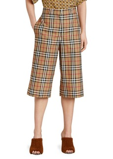 Burberry Osney Check Culottes