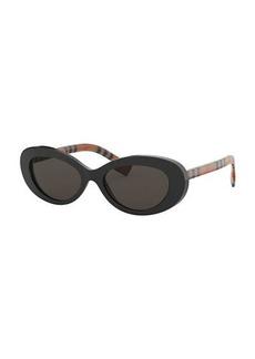 936595f059211 Burberry Flattop Acetate Check-Arms Aviator Sunglasses