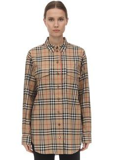 Burberry Oversize Icon Stretch Poplin Shirt