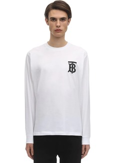 Burberry Oversize Logo L/s Cotton Jersey T-shirt