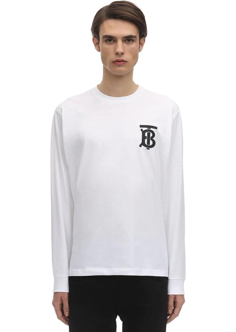 Burberry Oversize Logo L/s Cotton Jersey T-shirt