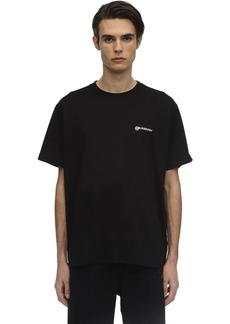 Burberry Oversize Logo Print Cotton T-shirt