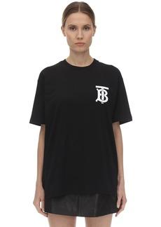 Burberry Oversize Tb Logo Cotton Jersey T-shirt