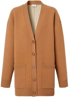 Burberry oversized knitted cardigan