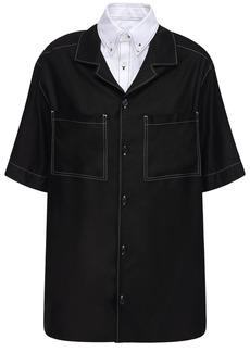Burberry Oversized Layered Twill Shirt