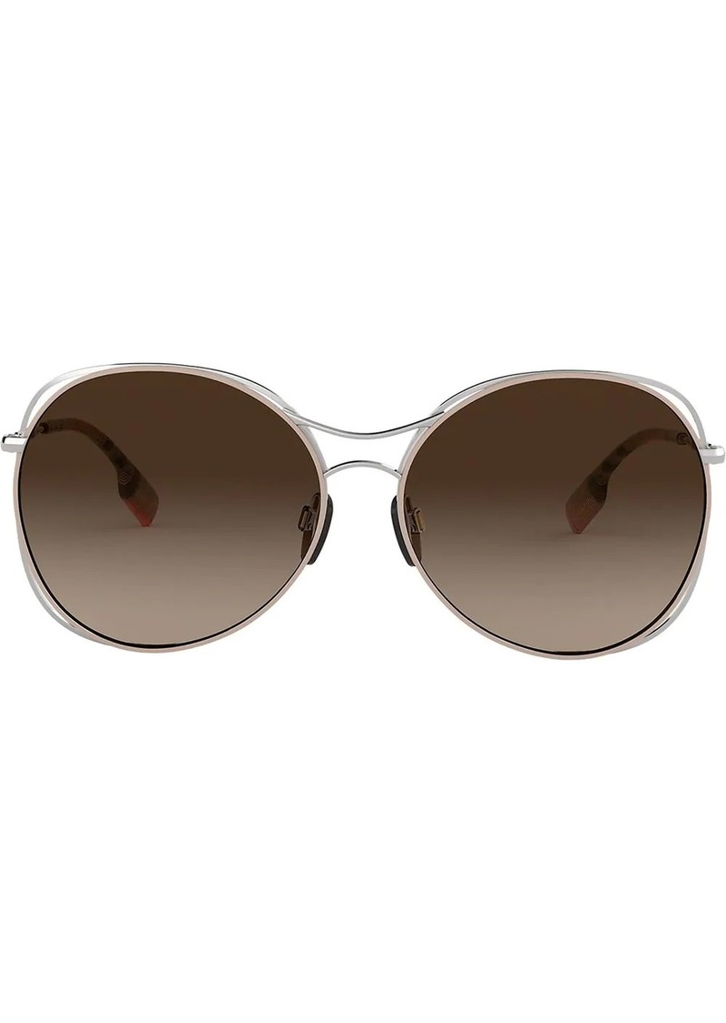 Burberry oversized round frame sunglasses