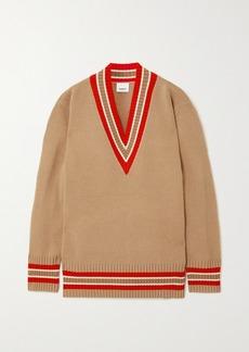 Burberry Oversized Striped Wool Sweater