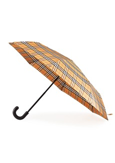 Burberry Packable Vintage Check Canopy Umbrella
