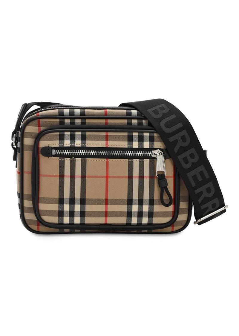 Burberry Paddy Check Canvas Crossbody Bag