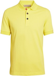 Burberry Painted Button Cotton Piqué Polo Shirt