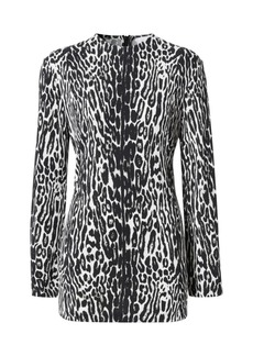 Burberry Panaro Leopard-Print Jersey Shift Dress