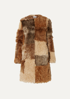Burberry Patchwork Shearling Coat