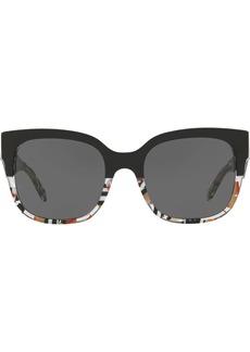 Burberry patchwork square frame sunglasses