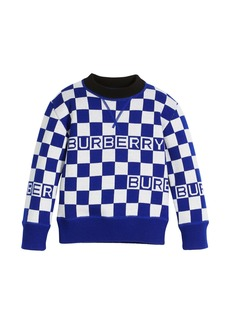 Burberry Paul Racecar Check Logo Sweater
