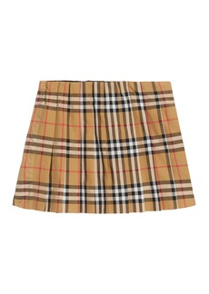 Burberry Pearl Check Pleated Skirt  Size 3-14