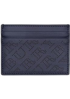 Burberry Perforated Logo Leather Card Case