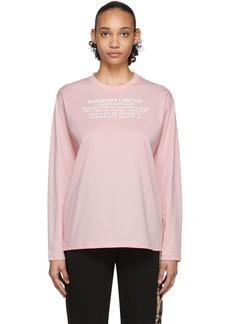 Burberry Pink Creuse Long Sleeve T-Shirt