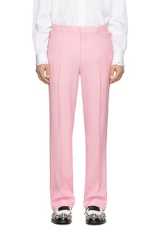 Burberry Pink Wool Trousers