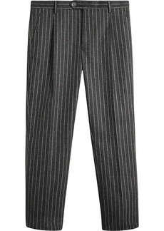 Burberry Pinstriped Wool Blend Twill Trousers